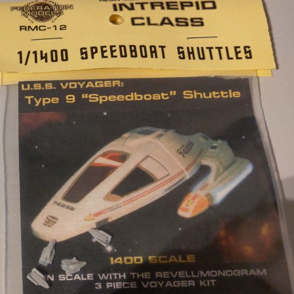 Intrepid Class 1:1400 Speedboat Shuttle - Federation Models - RMC-12